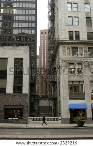 City buildings and streets - stock photo