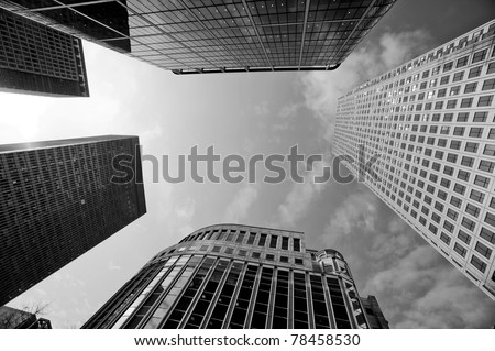 City Buildings, London UK - stock photo