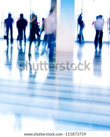 city business people abstract blurred motion