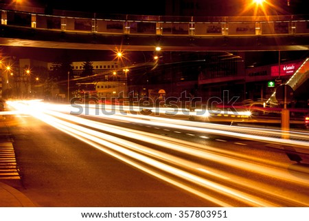 City by night 3 - stock photo