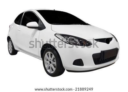city car isolated - stock photo