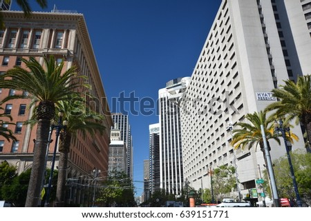 City Center of San Francisco from May 1, 2017, California USA