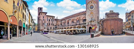 City center of the historic town of Mantua in Lombardy, Italy