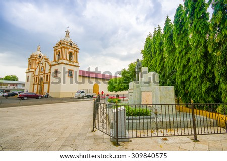 City Centre church in Santiago, Panama , one of the largest towns in Panama and a major transportation hub for the region. - stock photo