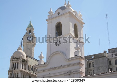 city centre of Buenos Aires - stock photo