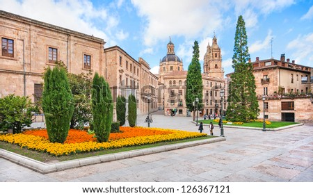 City centre of Salamanca, Castilla y Leon region, Spain - stock photo