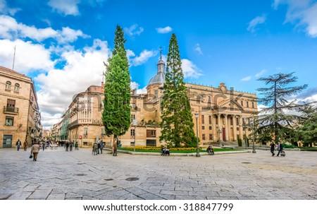 City centre of Salamanca, Castilla y Leon region, Spain - stock photo