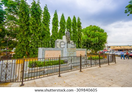 City Centre of Santiago in Pamama,  one of the largest towns in Panama and a major transportation hub for the region. - stock photo