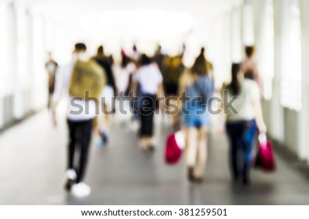 City commuters. Abstract blurred image of a city street scene.Bildnummer: 272788214 - stock photo