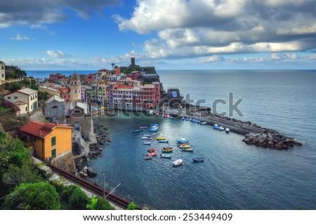 city corniglia in cinque terre, Italy - stock photo