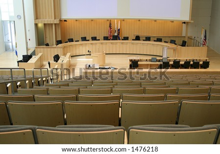 City council meeting room - stock photo