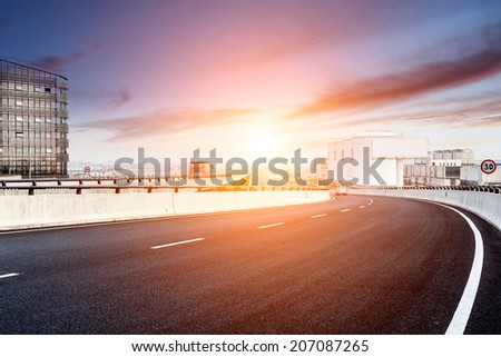 City Expressway under the sun - stock photo
