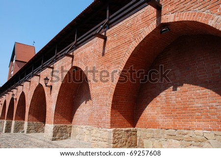 City Fortification Wall And Ramer's Tower - stock photo