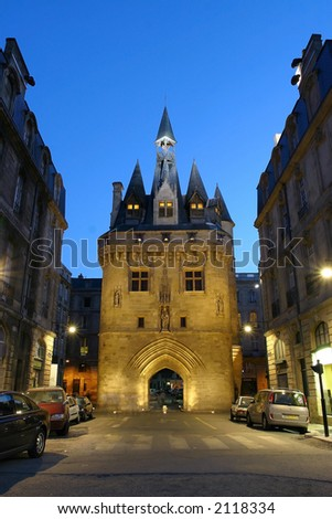 City Gate from Bordeaux, France - stock photo