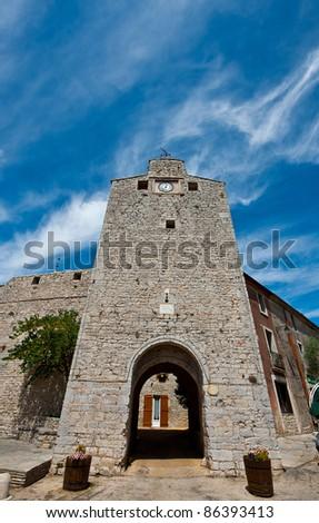 City Gate in Viols Du Fort, France - stock photo