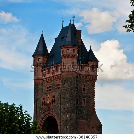 city gate in worms - stock photo