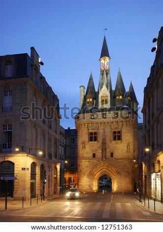City Gate Porte Cailhau from Bordeaux, France - stock photo