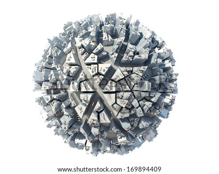 city globe - stock photo