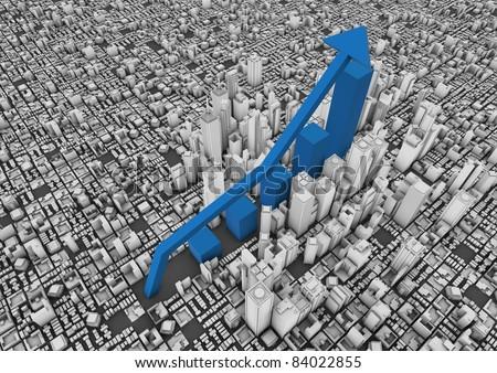 City growth - stock photo