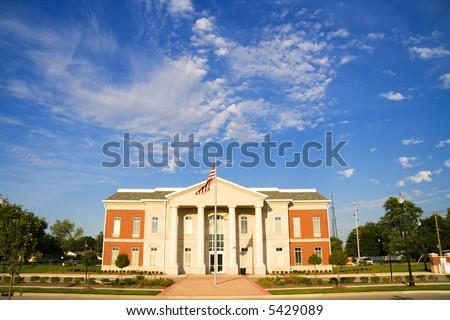 City Hall building in Lebanon, Indiana - stock photo