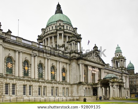 City Hall, Donegall Square, Belfast, Northern Ireland - stock photo