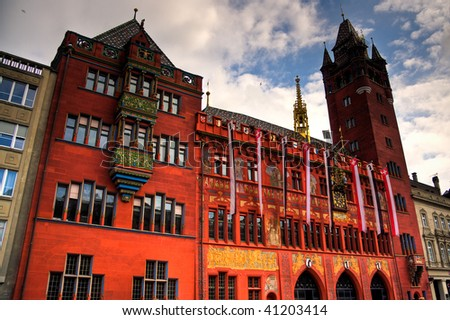 City Hall in Basel, Switzerland - stock photo