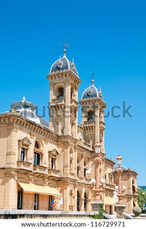 City Hall in San Sebastian (Donostia), Spain. It was built in 1897 and served as the Grand Casino of San Sebastian - stock photo