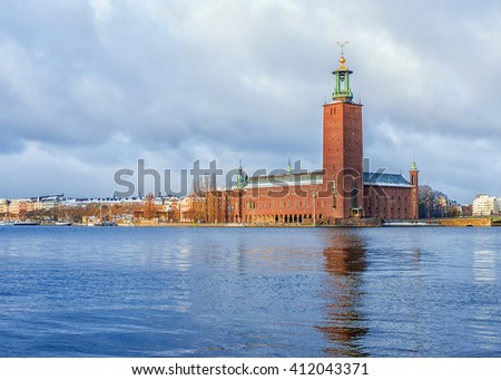 City Hall in Stockholm, Sweden - stock photo
