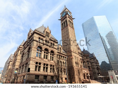 City Hall in Toronto, Canada. - stock photo