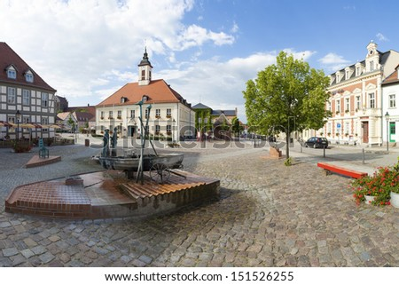 City hall of Angermuende - stock photo
