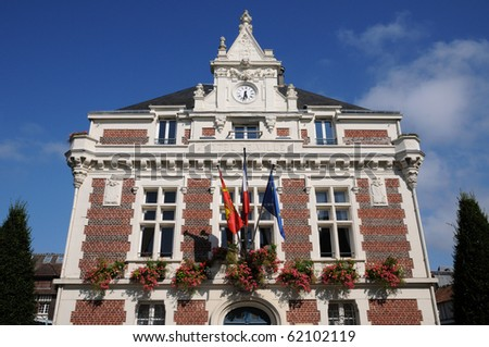city hall of Villers sur Mer in Normandy