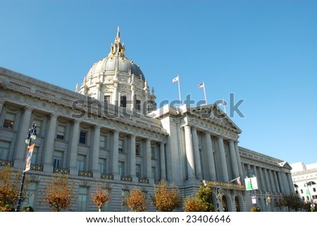 City Hall; San Francisco, California - stock photo