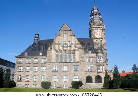 City Hall Wittenberge - stock photo