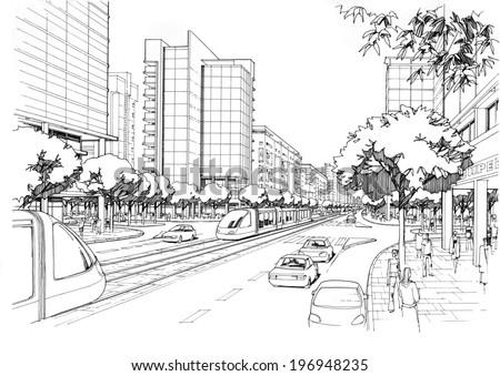 city ??highway - stock photo