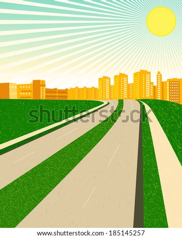 city sunny day clipart rasterized copy stock illustration 185145257 rh shutterstock com sunny day with clouds clipart sunny winter day clipart
