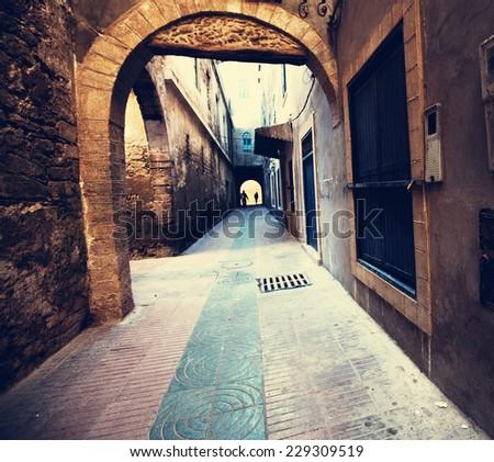city in Morocco - stock photo