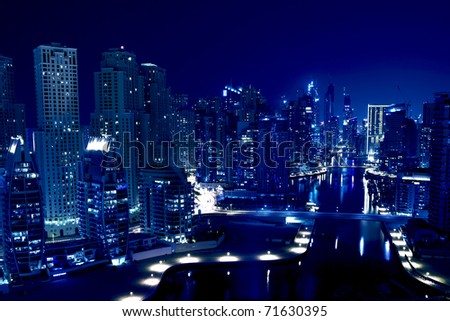 City in the night