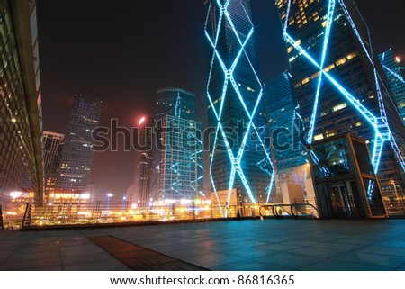 City in the night - stock photo