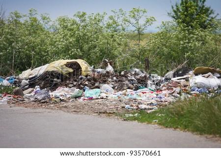 City landfill - stock photo