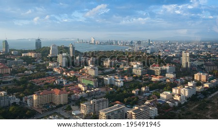 City landscape of Pattaya, Thailand - stock photo
