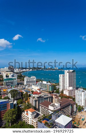 City landscape of Pattaya, Thailand - stock photo
