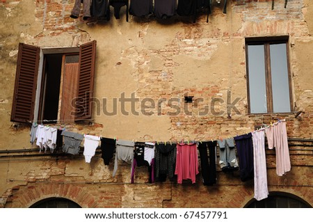 City landscape of Siena, one of the best example of the tuscan medieval architecture - stock photo