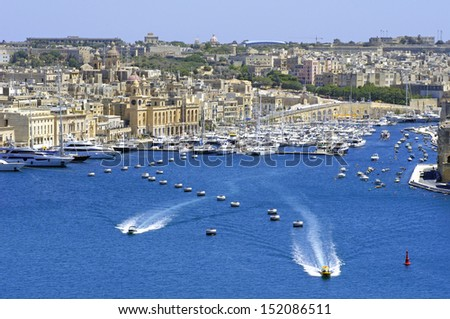City landscape on the seaside in malta  - stock photo