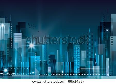 City Landscape. Raster version. - stock photo