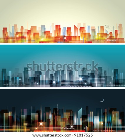 City Landscape. Raster version - stock photo
