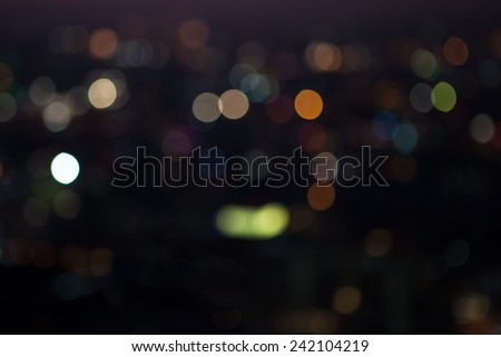 City light blur bokeh, defocused background. - stock photo