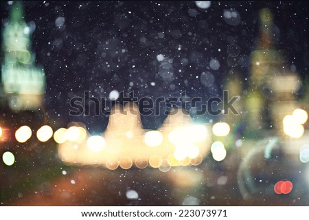 city �¢??�¢??lights blurred abstract bokeh background - stock photo