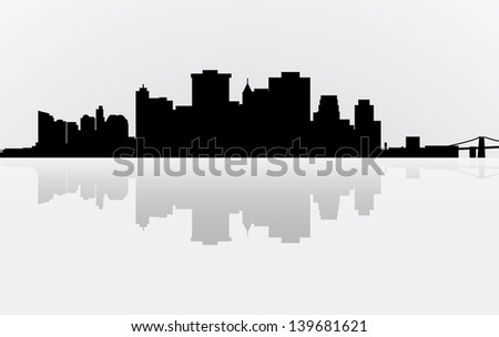 City Manhattan panorama - stock photo