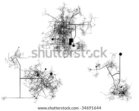 City map - Also available as a vector-file --- Please see my another maps of my collection - stock photo
