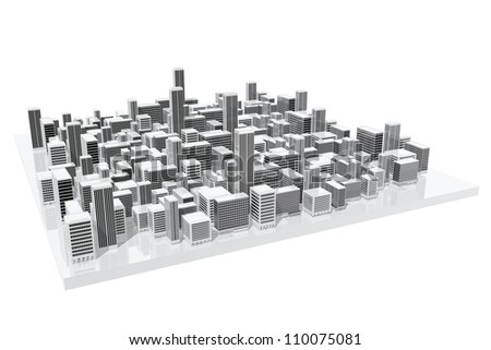 City model of use in architecture - stock photo
